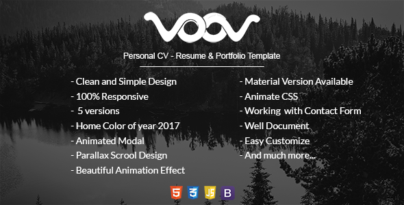 VOOV - Personal CV, Resume & Portfolio Template            TFx