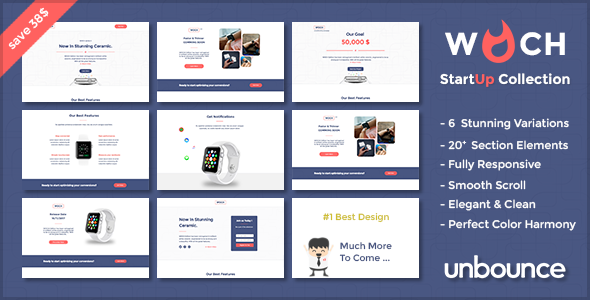 WOCH - Startup Collection - unbounce Responsive Landing Page            TFx