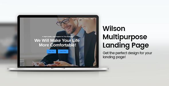 Wilson - Responsive Multipurpose Landing Page            TFx