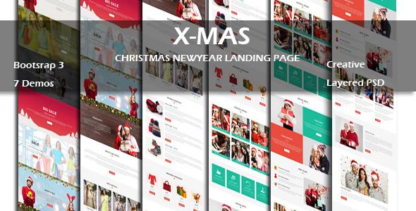 X-MAS - Multipurpose Responsive HTML Landing Page            TFx