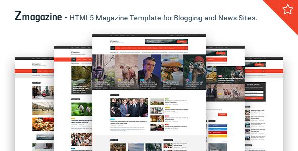 Zmagazine - News & Magazine HTML Template            TFx