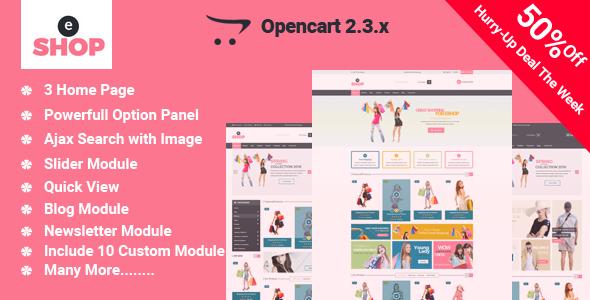 eShop-Multipurpose OpenCart Template            TFx