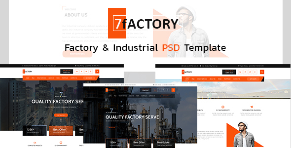 7fACTORY - Industrial & Manufacturing PSD Template            TFx