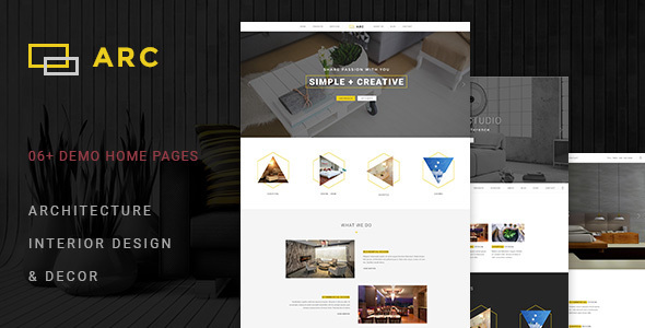 ARC - Interior Design, Decor, Architecture WordPress Theme            TFx