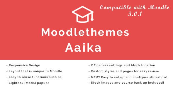 Aaika - Responsive Moodle Theme            TFx