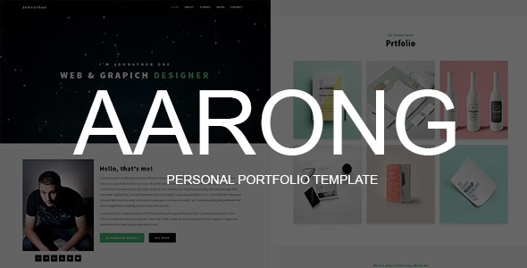 Aarong - Personal Portfolio Template            TFx