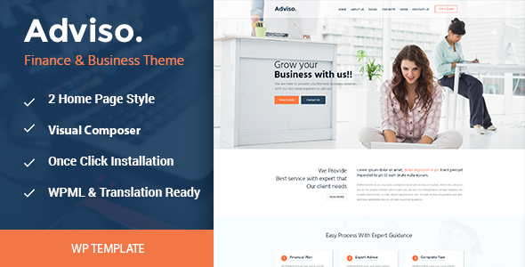 Adviso - Finance, Consulting, Business WordPress Theme            TFx