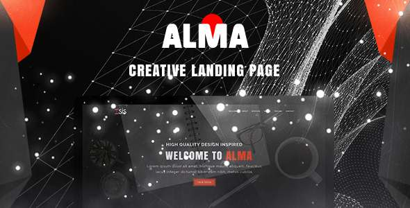 Alma - Simple & Creative Landing Page PSD Template            TFx