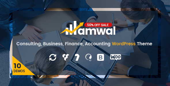 Amwal | Consulting, Business, Finance, Accounting WordPress Theme            TFx
