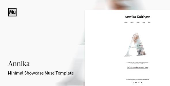 Annika - Minimal Showcase Adobe Muse Template            TFx
