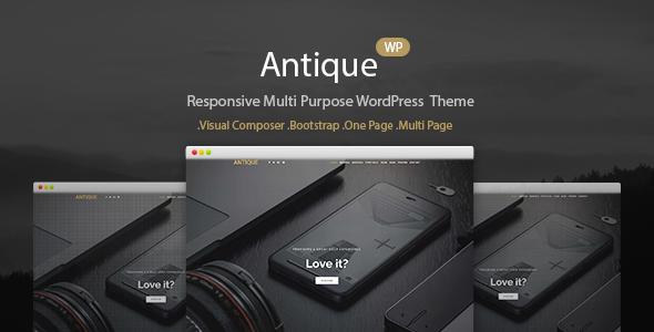 Antique - Responsive Multi-Purpose WordPress Theme            TFx