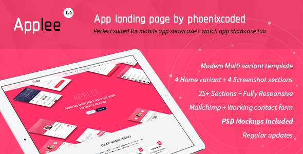 Applee App Landing Page HTML Version            TFx