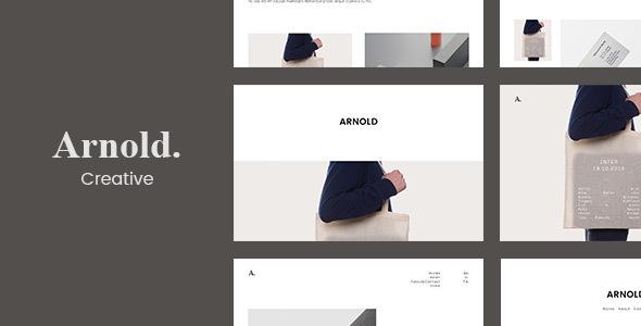 Arnold. -  Minimal Portfolio WordPress Theme            TFx