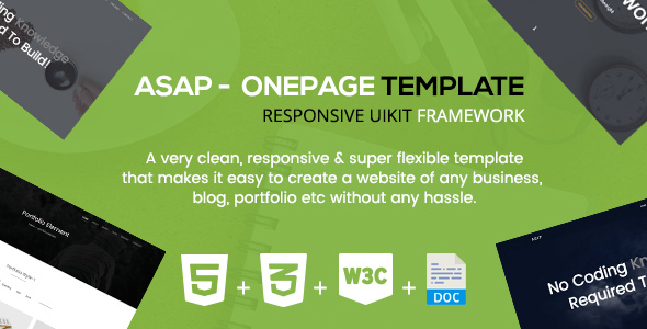 Asap - A Responsive Onepage Corporate Template            TFx