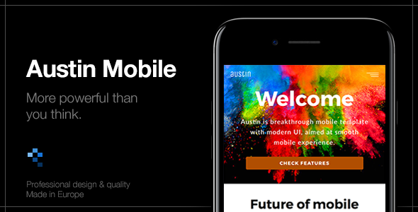 Austin Mobile | Mobile Website & App Template            TFx