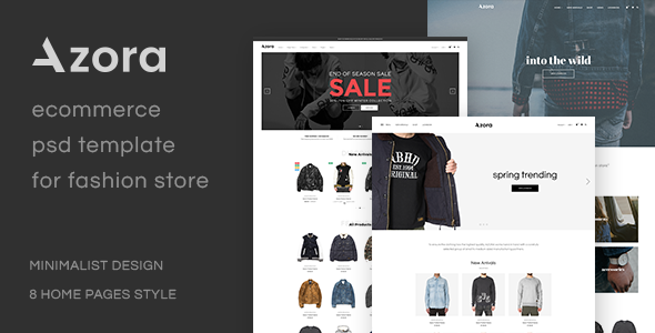 Azora - Ecommerce PSD Template For Fashion Store            TFx