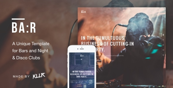 BA:R - Unique Bar, Night & Disco Club Template            TFx