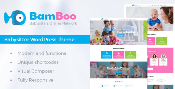 BamBoo - Babysitters Online Network WP Theme            TFx