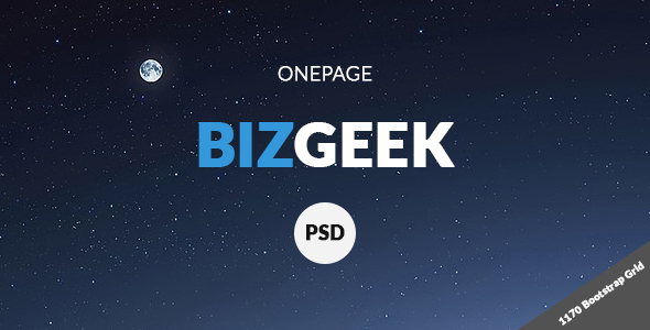 BizGeek - One Page Corporate PSD            TFx