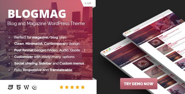 BlogMag - Responsive Blog and Magazine WordPress Theme            TFx