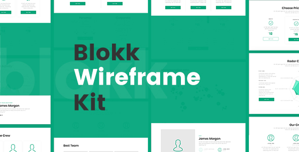 Blokk Wireframe Kit 170+ Screens            TFx