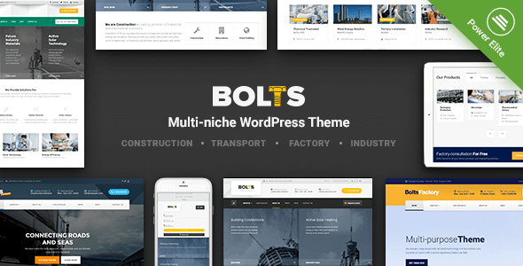 Bolts - WordPress Theme for Construction, Transport and similar Business            TFx