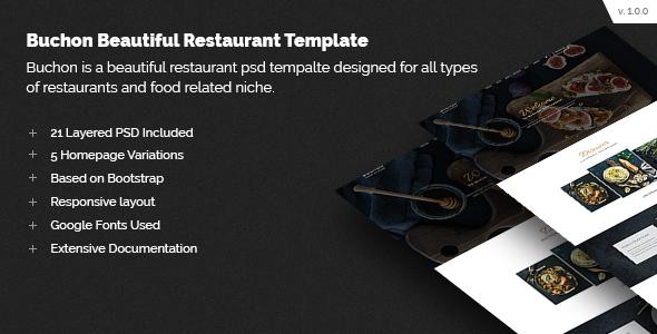 Buchon Multipurpose Restaurant Template            TFx