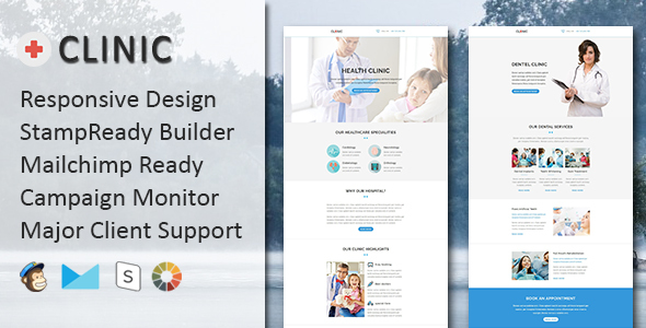 CLINIC - Multipurpose Responsive Email Template with Stampready Builder            TFx