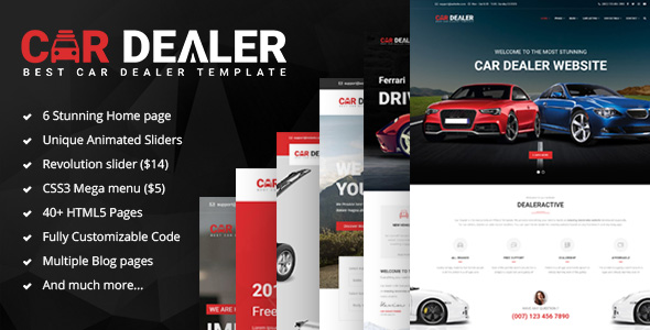 Car Dealer - The Best Car Dealer Automotive Responsive HTML5 Template            TFx