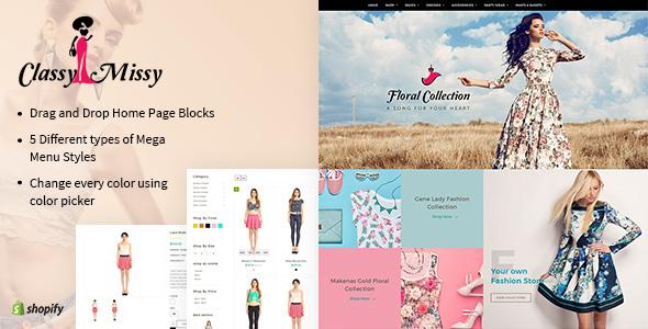 Classy Missy - A Fashion Store Shopify Theme            TFx