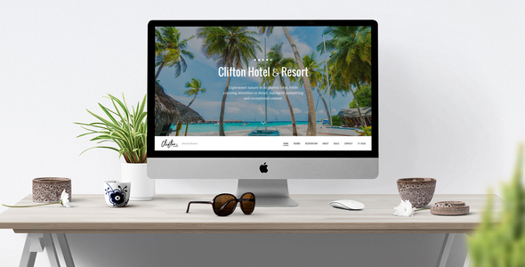 Clifton Hotel - One-Page Parallax HTML5 Travel Booking Template            TFx