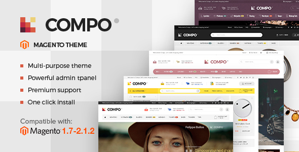 Compo - Multi-Purpose Responsive Magento 2 and Magento 1 Theme            TFx