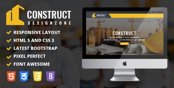 Construct : Construction, Building & Maintenance Business Template            TFx