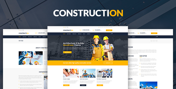 Construction – Architecture, Builder, Construction Company PSD Template            TFx