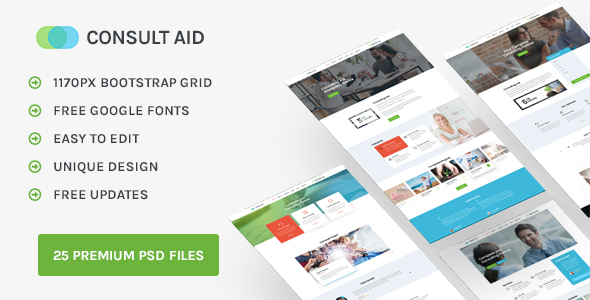 Consult Aid : Business, Consulting, Finance PSD template            TFx