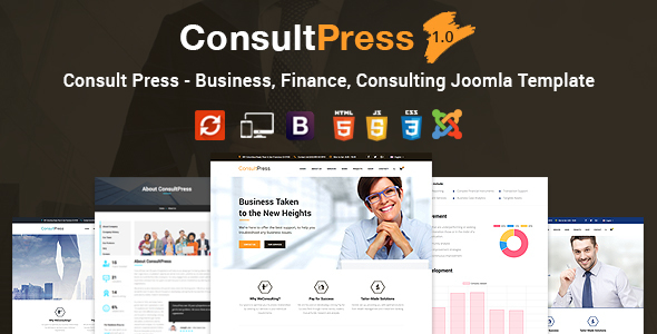 Consult Press - Finance & Consulting Business Joomla Template            TFx