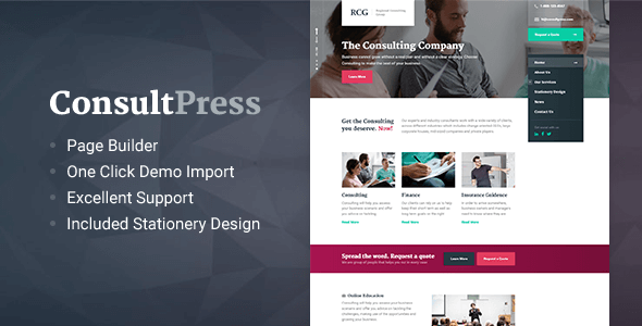 ConsultPress - WordPress Theme for Consulting and Financial Businesses            TFx
