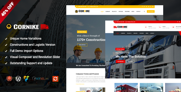 Cornike - Multi-Concept Business WordPress Theme            TFx