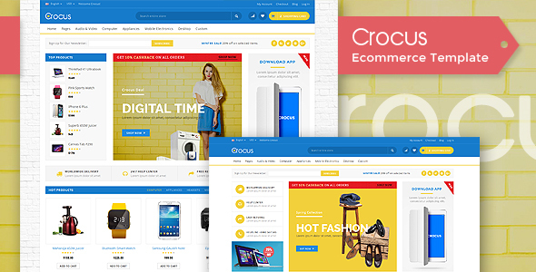 Crocus - Fashion OpenCart Theme            TFx