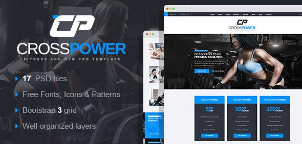 CrossPower - Sport Gym Fitness WordPress Theme            TFx