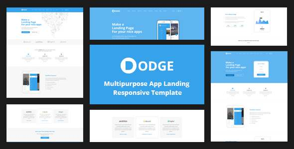 DODGE - Multipurpose App Landing Page Template            TFx