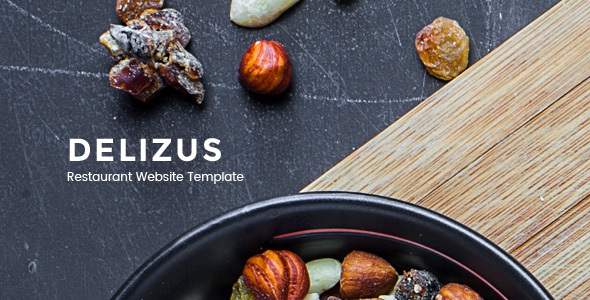 Delizus : Restaurant and Cafe Website Template            TFx
