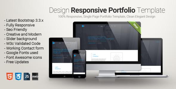 Design - One Page Portfolio Template            TFx