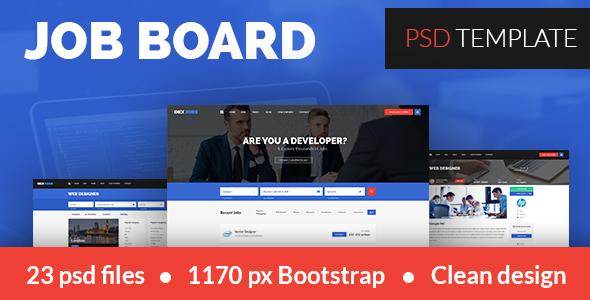 Dexjobs Job Board PSD Template            TFx