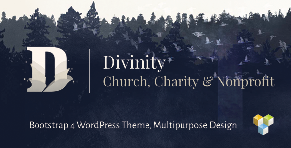 Divinity - Church, Nonprofit, Charity Events & Donations Bootstrap 4 WordPress Theme            TFx