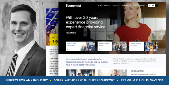 Economist - Business and Finance WordPress Theme            TFx