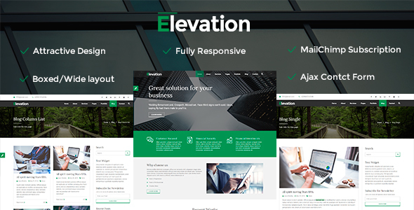Elevation - Responsive Business HTML Template            TFx