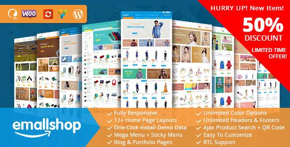 EmallShop - Responsive Multipurpose WooCommerce Theme            TFx