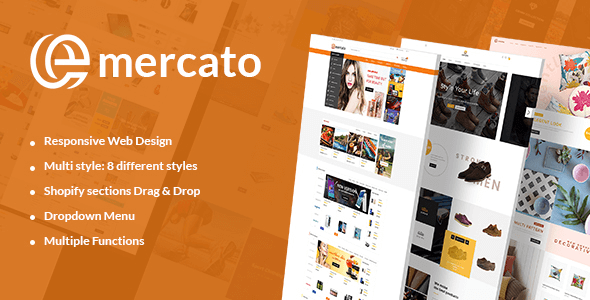 Emercato | Supermarket Responsive Shopify Theme - Multi-Styles & Niche Designs            TFx