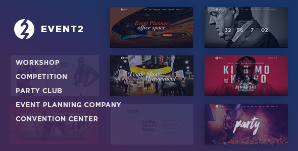 Event2: Workshop / Expo / Agency WordPress Theme            TFx